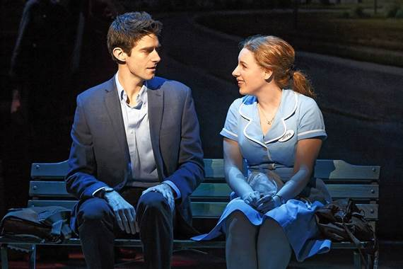 Drew Gehling and Jessie Mueller in 'Waitress.'